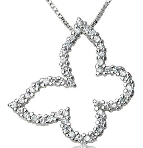 Jewelry Adviser Pendants 14k Two-tone AA Diamond Kid Pendant Diamond quality AA I1 clarity, G-I color
