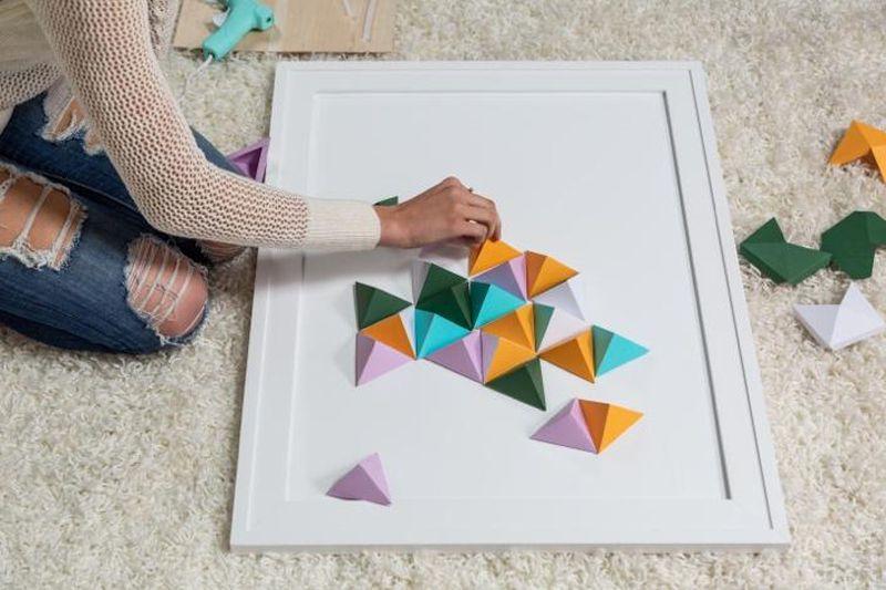 Diy 3d Artwork Wow Cricut Origami Wall Art Paper Wall Art Diy Paper Wall Art