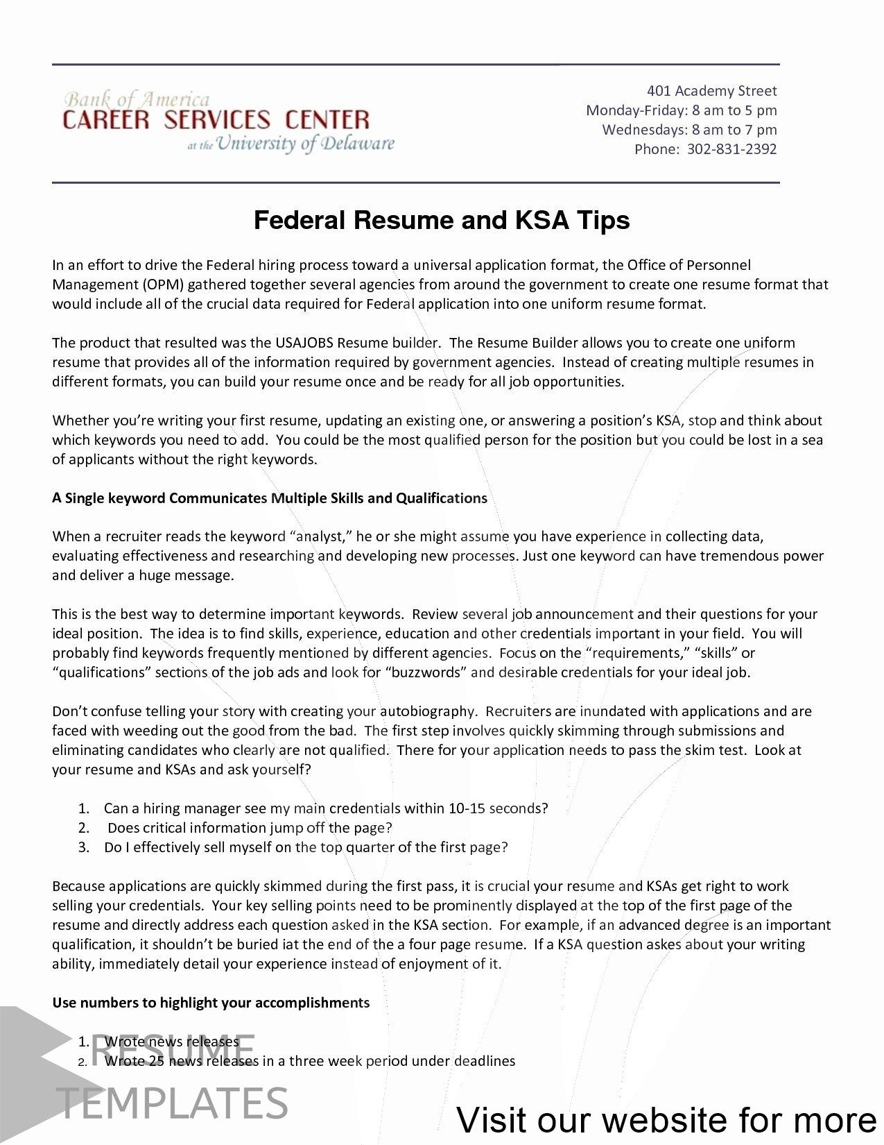 Resume Examples For Jobs Professional In 2020 Federal Resume