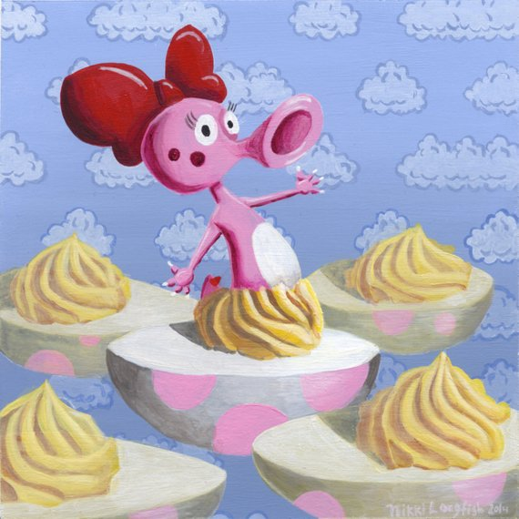 Birdo And Deviled Eggs From Mario Kart Art Print Products