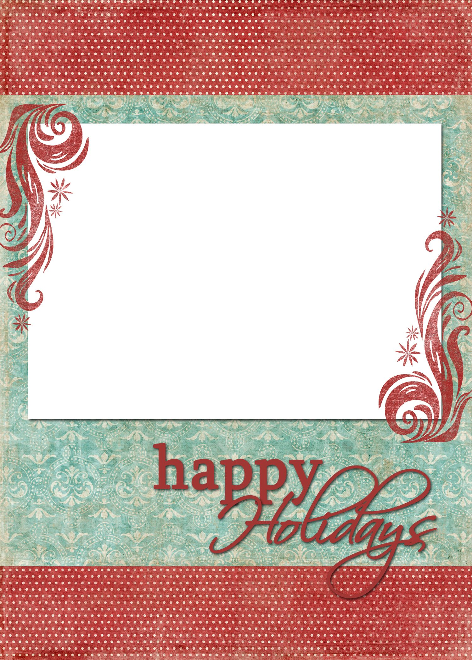 Happy Holidays Blue Red Happy Holiday Cards Christmas Card Template Holiday Card Template