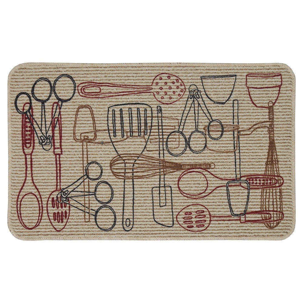 Mohawk Somethings Cookin' Kitchen Rug - Tan (18x30), Beige