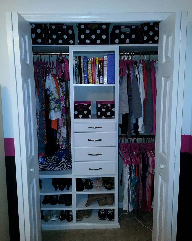 Cute Small Closet Ideas Bedroom Organization Closet Closet Remodel Closet Small Bedroom
