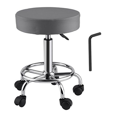 Fantastic Upgraded Modern Pu Leather Rolling Swivel Stool Chair Caraccident5 Cool Chair Designs And Ideas Caraccident5Info