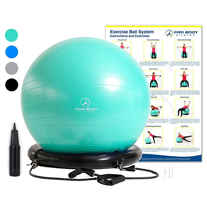 Exercise Ball Chair System Yoga and Pilates