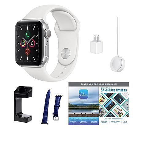 Apple Watch Series 5 44mm GPS Sport Watch Bundle with