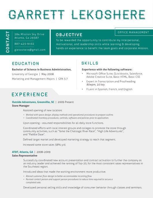 Amazing Resume Template 4 Resume Template Good Resume Examples Resume