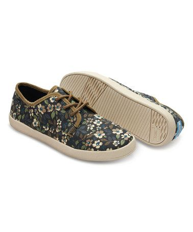 1de2401ab26 This Black & Brown Floral Canvas Paseo Sneaker is perfect ...