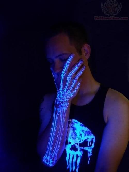 e3469f8bd Skeleton Blacklight Tattoo | Tattoos | Uv tattoo, Black light tattoo ...