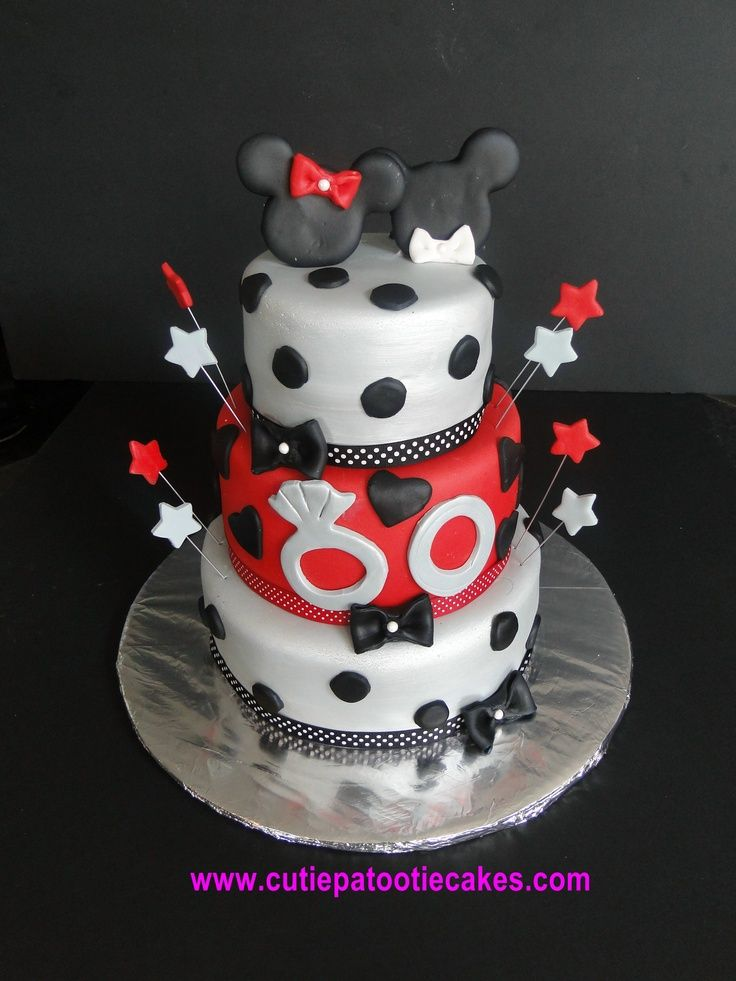 Minnie & Mickey Engagement Cake | Engagement | Pinterest