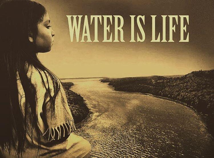 ~ WATER IS LIFE. ~ #NODAPL #protectthesacred #mniwiconi #waterislife #oilisdeath #protectthesacred #waterprotectors #standwithstandingrock #prayers #nodapl #protectourwater #nopipelines #savetheearth #humanity #nodakotaaccesspipeline...