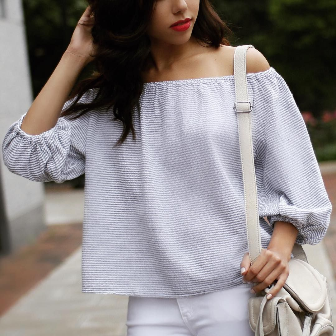 519732e5214 Bretta Off-The-Shoulder Top   #MyAnthropologie Style   Moda, Blusas ...