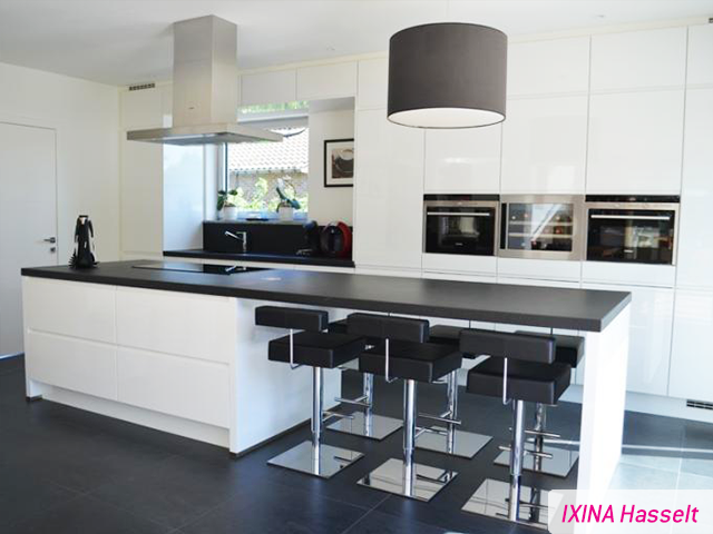 keukenrealisatie ixina hasselt greeploze keuken cuisine sans poign es deco pinterest. Black Bedroom Furniture Sets. Home Design Ideas