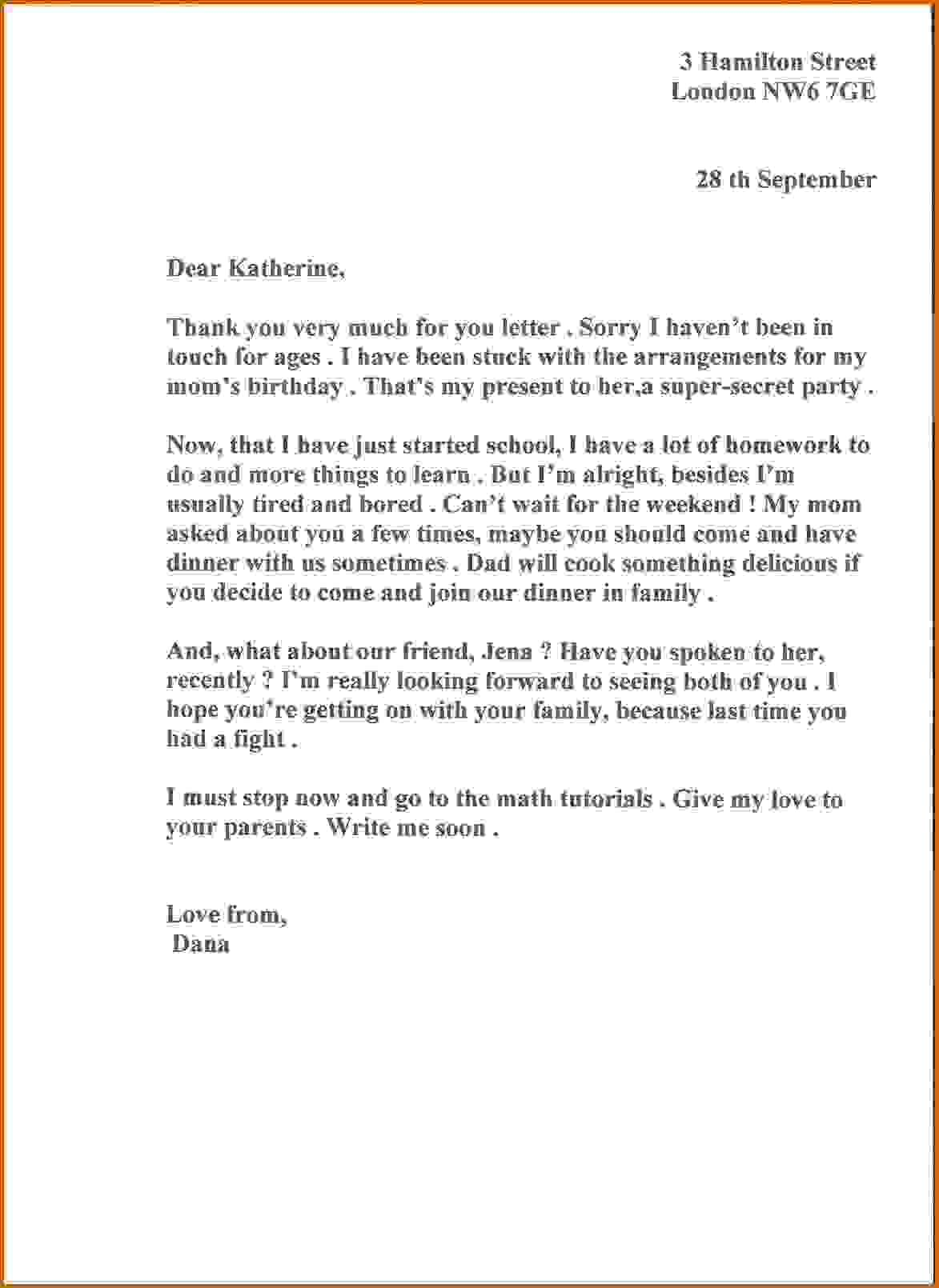 12 informal letter to a friend lease template  Formal business