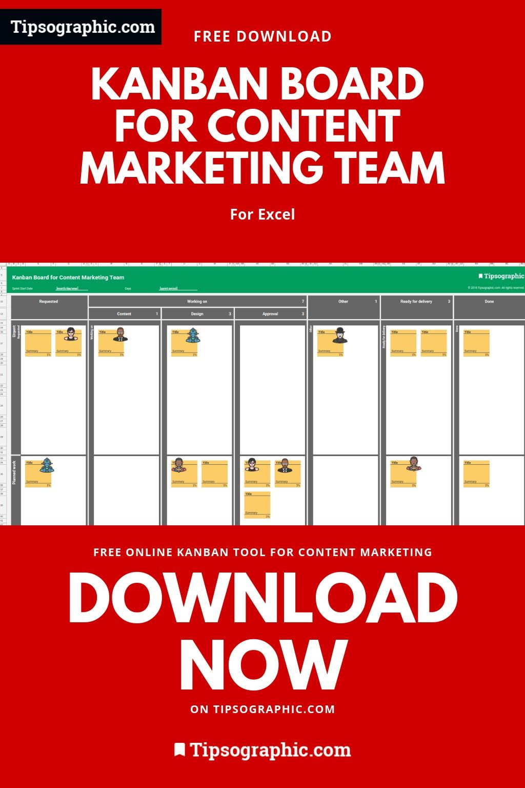 5 Kanban Boards For Marketing Team Excel Free Download Excel And