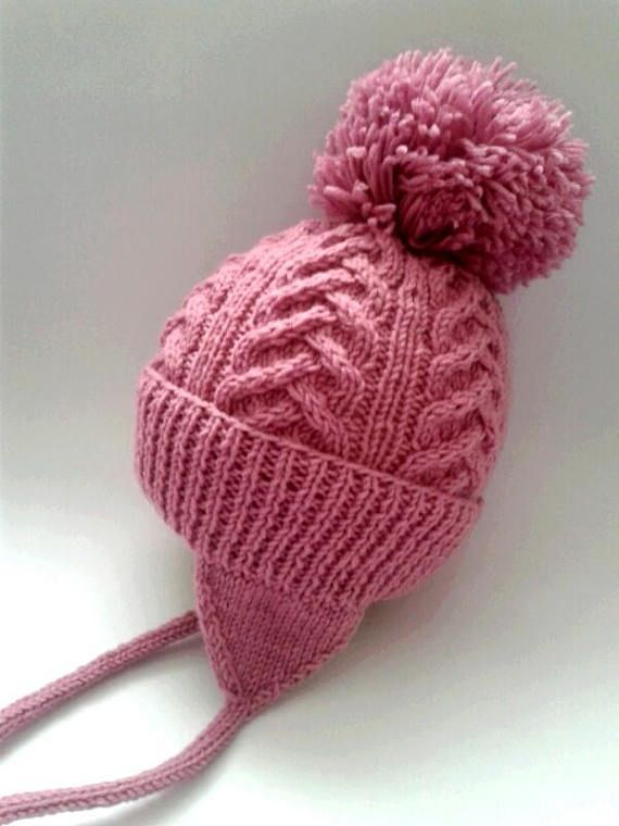 e5b1e50ffb4 Children s hats patterns Perfect winter hat warm and cozy Children s hat  with pompon Color Persian r