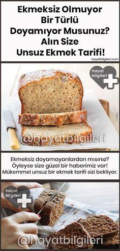 Ekmeksiz Olmuyor, Bir Türlü Doyamıyor Musunuz? Alın Size Unsuz Ekmek Tarifi #glutenfreierezepte