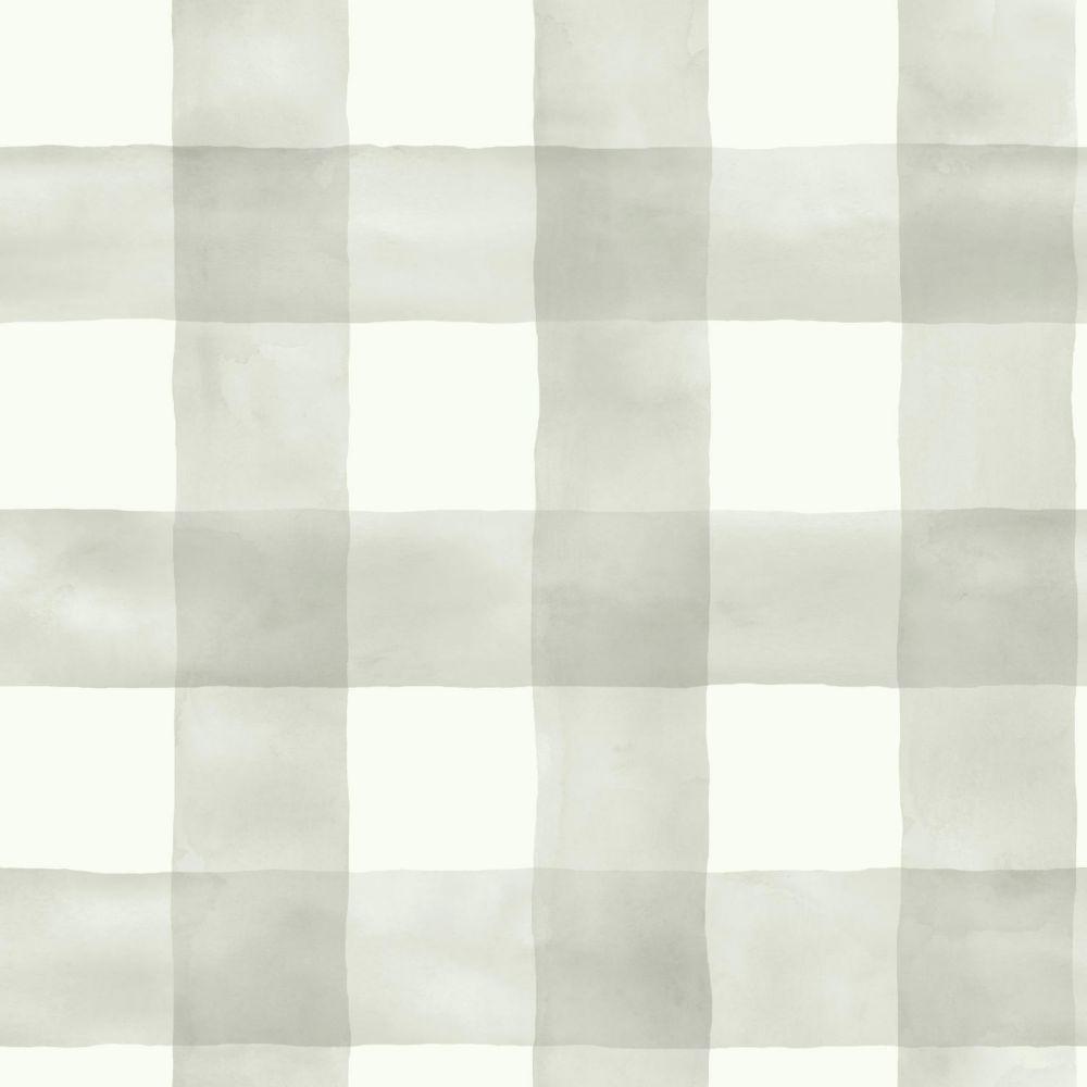 Magnolia Home 56 Sq Ft Water Colour Check Gray White Removable Wallpaper Magnolia Homes York Wallpaper Home Wallpaper