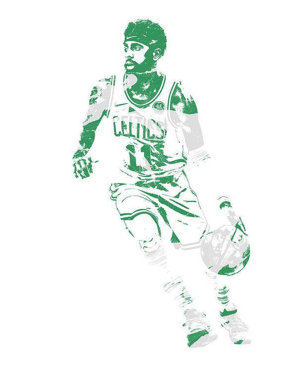 f2aaf31b383 Kyrie Irving Boston Celtics Pixel Art 70 Art Print by Joe Hamilton ...