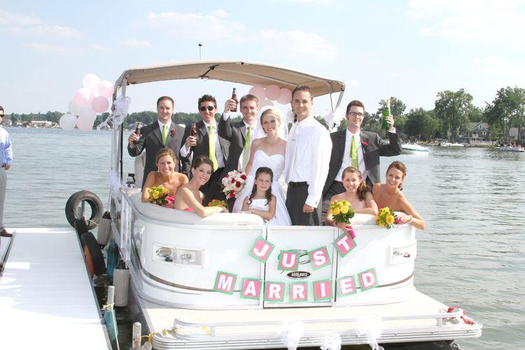 wedding pontoon Wedding Pontoon pics Pinterest Weddings