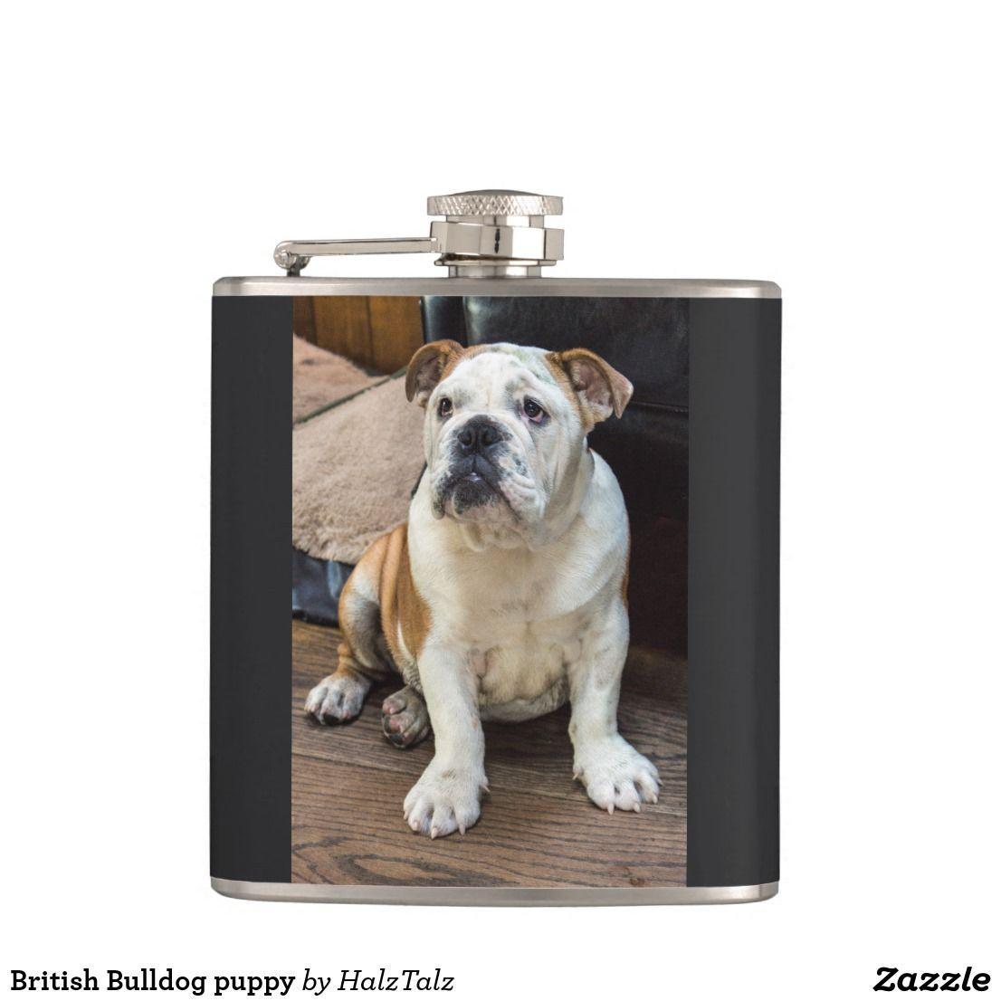 British Bulldog puppy Hip Flask Zazzle.co.uk Bulldog