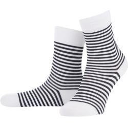 Photo of Walbusch Damen Baumwoll-Socke Weiß gestreift Walbusch