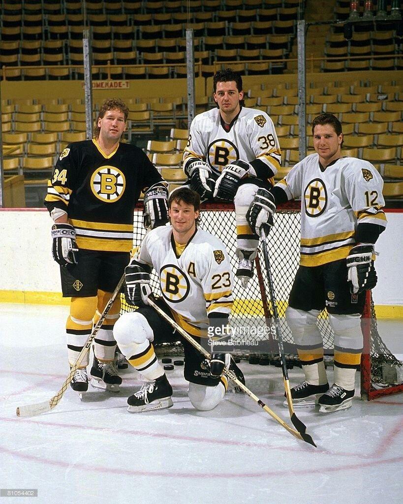 Lyndon Byers, Craig Janney, Greg Hawgood, Randy Burridge
