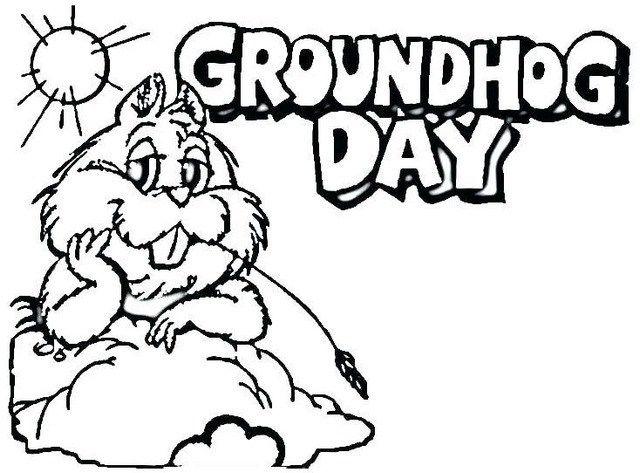 spaß murmeltier malvorlagen online  groundhog cartoon