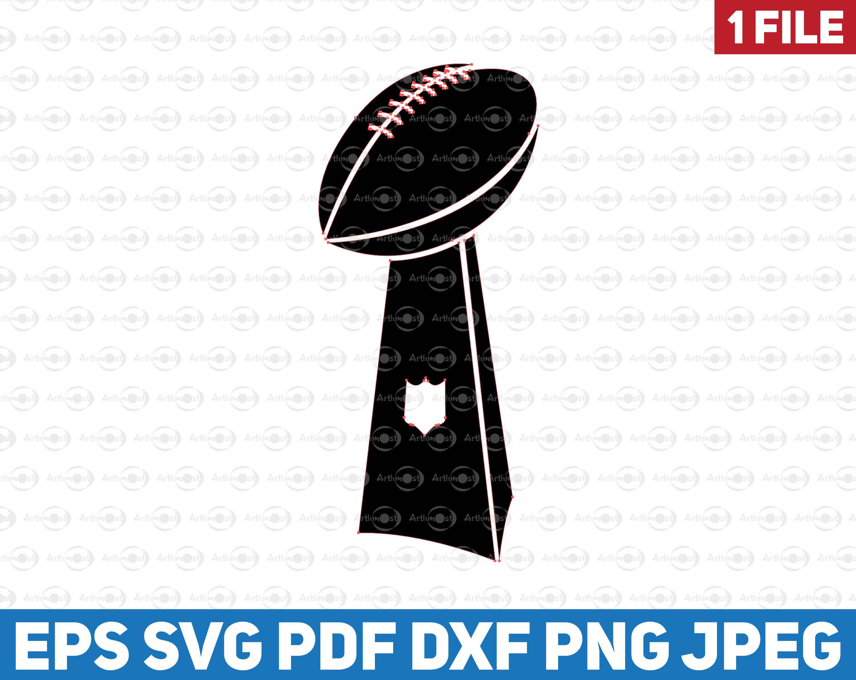 Nfl Super Bowl 2020 Clipart Svg Vince Lombardi Trophy Vector Etsy Super Bowl Etsy Clip Art