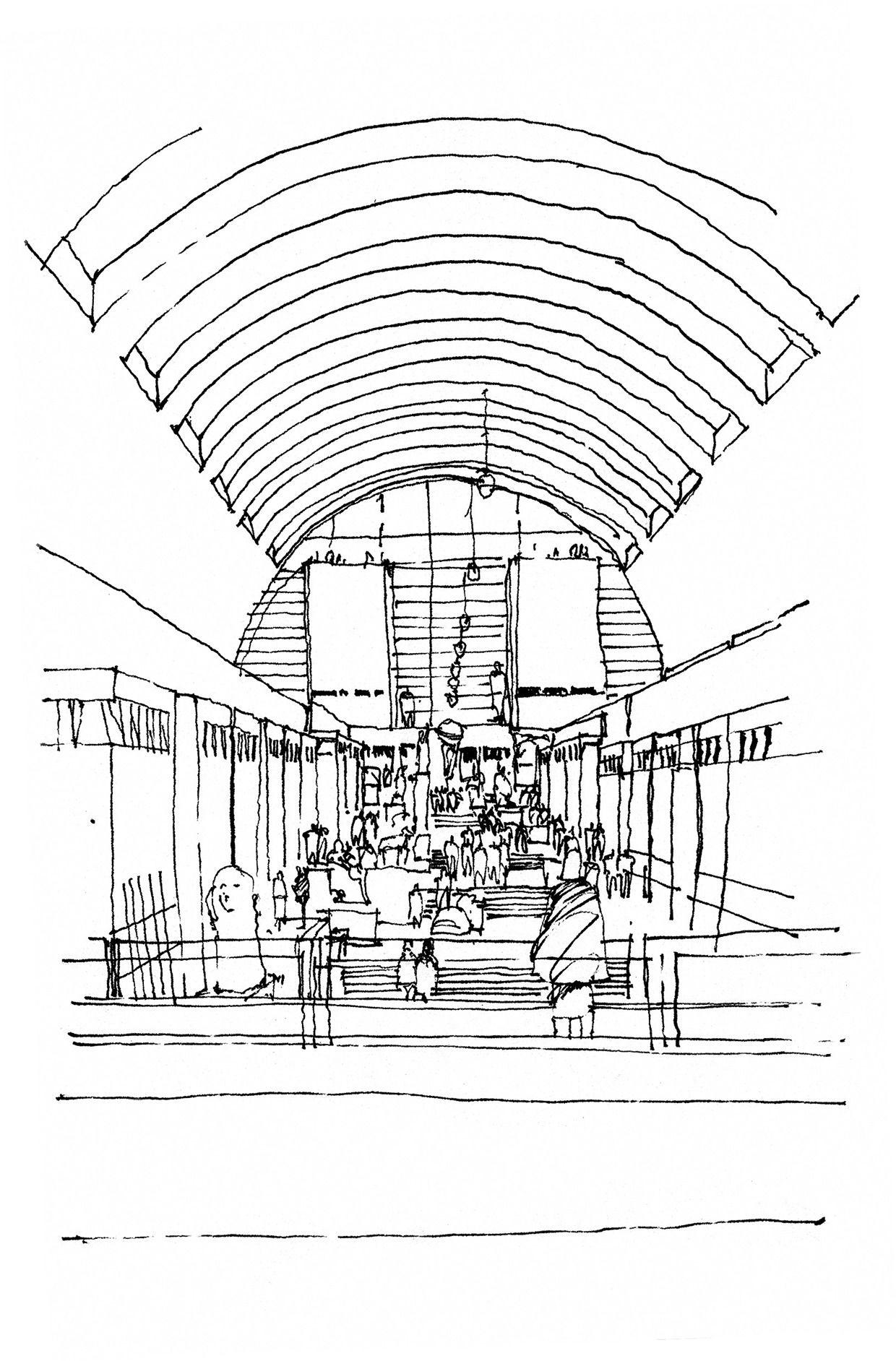 Travel Sketches On Behance Sketches Urban Sketching Interior Sketch