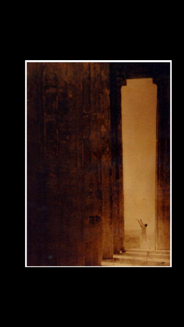 "Edward Steichen - "" Isadora Duncan at the Acropolis "" - Waxed platinum print  - 23,5 x 16,5 cm"