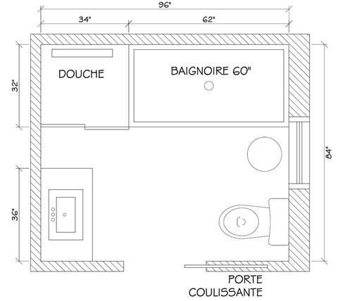Plan salle de bain Salle de bain moderne Pinterest Cuisine - Plan Electrique Salle De Bain