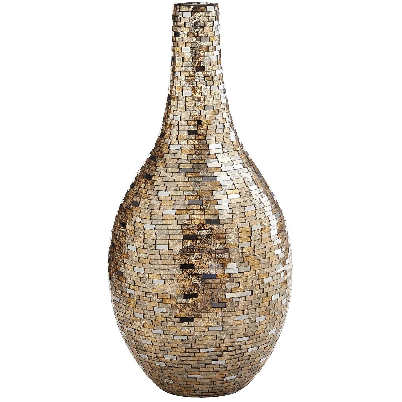 Silver gold mosaic vase decor vases pinterest mosaic vase mosaic vase reviewsmspy