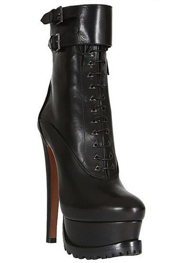 add27cc1ad0 Azzedine Alaia Leather Lace-up Platform Boot