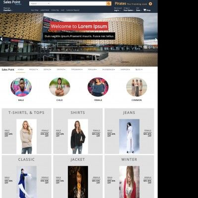 Online shopping responsive bootstrap web template templateonweb sales point is a free ecommerce website templates this template is best suited to create online shopping cart template pronofoot35fo Gallery