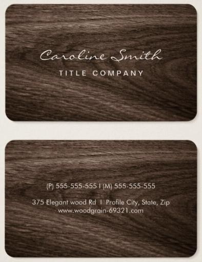 Classy Dark Oak Wood Grain Professional Profile Business Card Zazzle Com Business Card Maker Furniture Dolly Furniture Design Inspiration