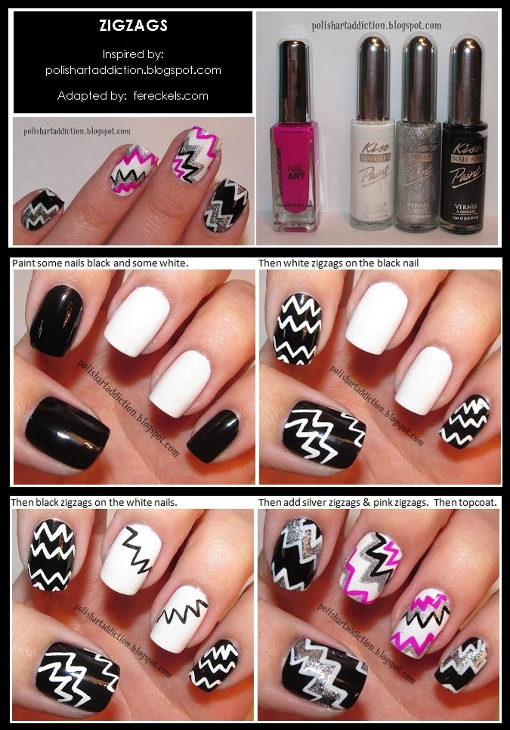 Nail Art Tutorials Zigzag Nail Art Tutorial Nail Art