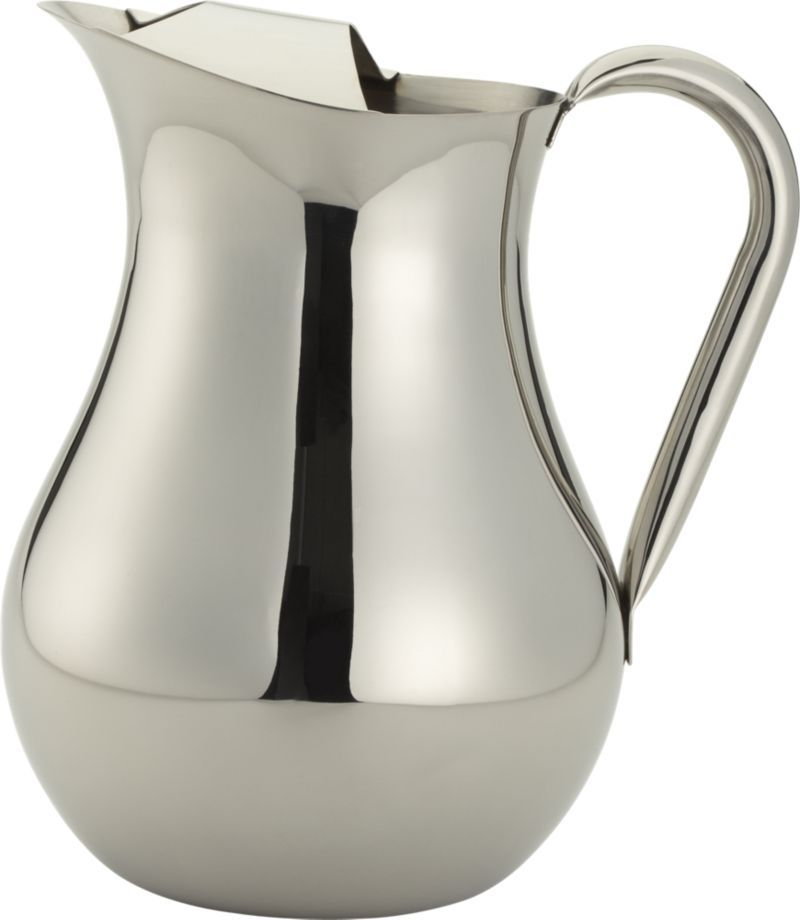 Stainless Pitcher In Pitchers Decanters Crate And Barrel Pitcher Crate And Barrel Decanters