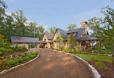 Detached Garage Design And Portico Attached To House Chestnut Hall Rustic Exterior Other Metro Platt A Driveway Design Rustic Exterior Driveway Edging
