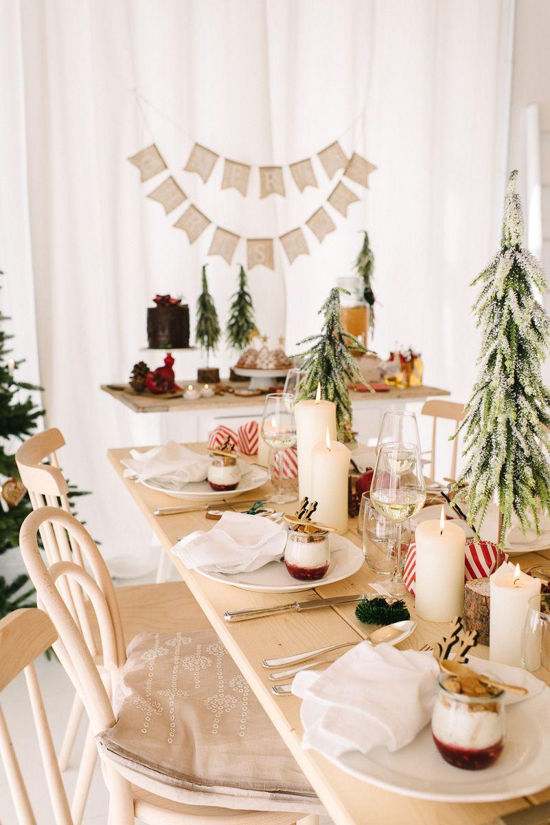 Moderne Weihnachtsdeko natürlich gemütlich rot eine traditionelle und doch moderne