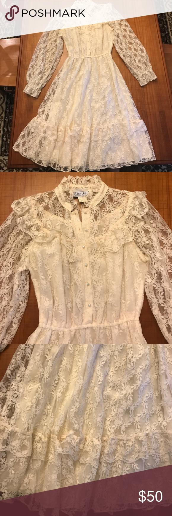 Lace dress vintage  VINTAGE lace dress  Pinterest  Vintage lace dresses Vintage lace