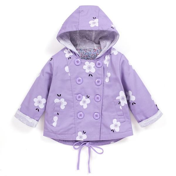 ea95dbb50a8e LZH Baby Girls Jacket 2017 Autumn Winter Jacket For Girls Trench Coat  Infant Kids Hooded Floral Print Coat Children Clothes
