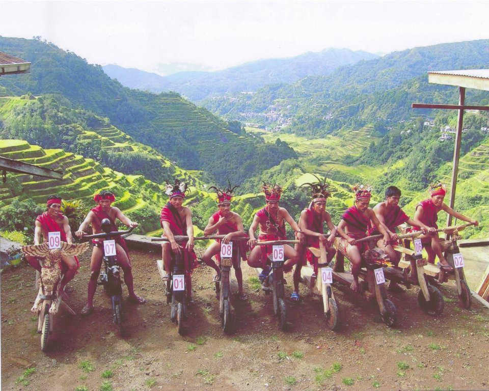 Igorot Tribesmen Riding On Their Wooden Scooters At Banaue Rice - Map location of us embassy manila
