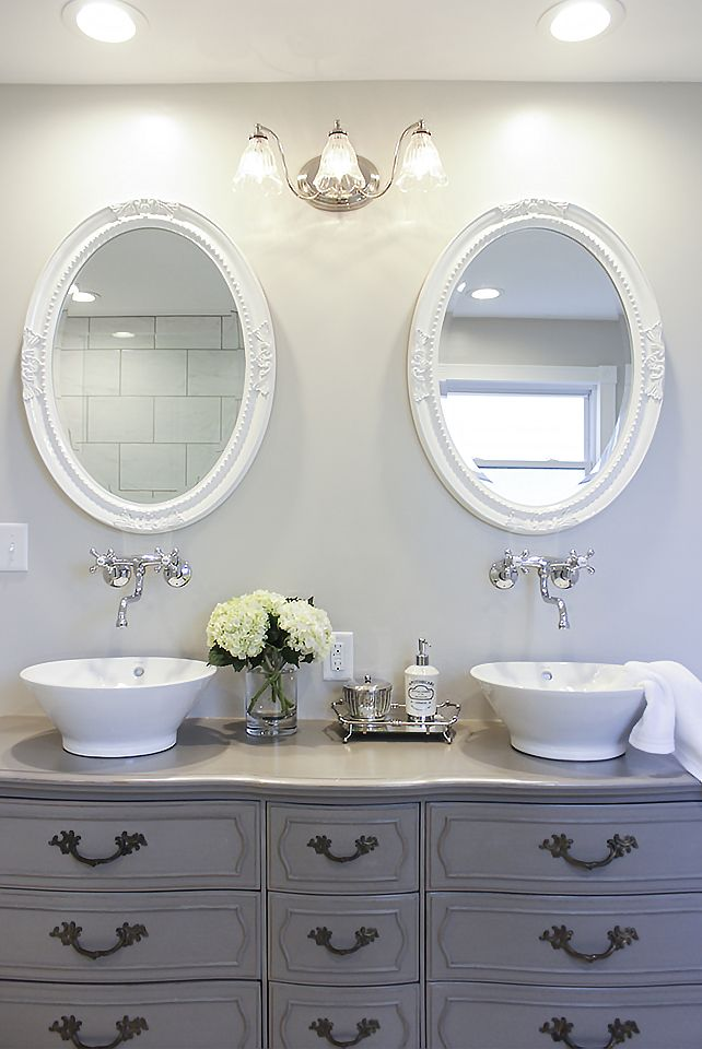 Stunning Bathroom Tour Dresser Into Double Vanity Bathroom
