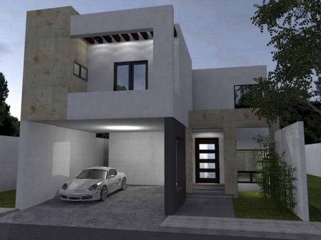 Modelos de fachada de casas de dos pisos con garaje for Garajes modelos