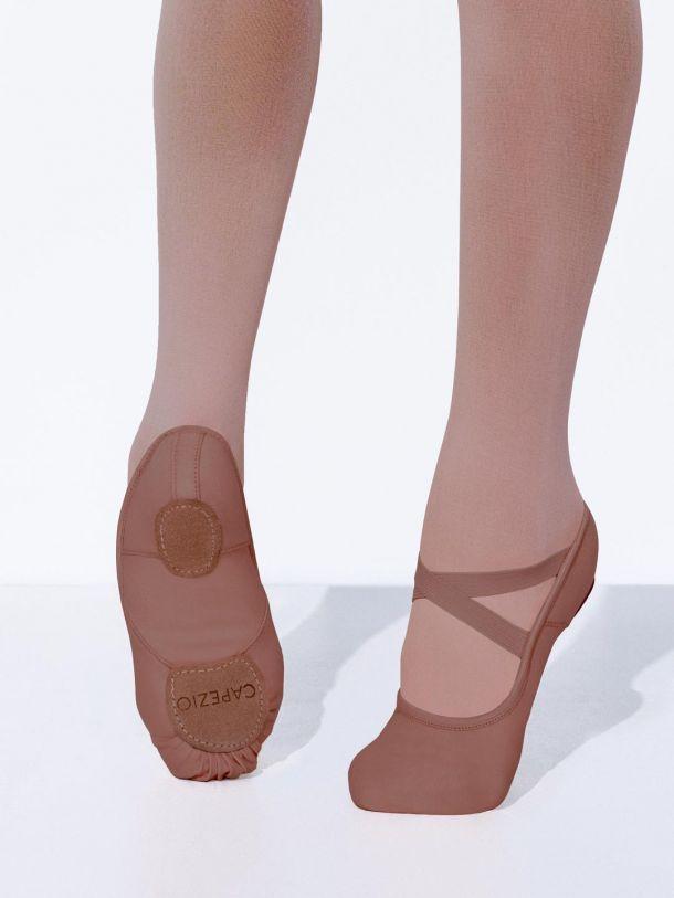Pink canvas Bloch Pump S0277 split sole ballet shoes -all