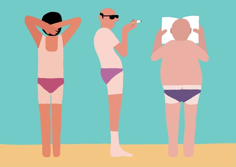 During London Design Festival 2013 - 'La Plage' exhibition by illustrator Jean Jullien