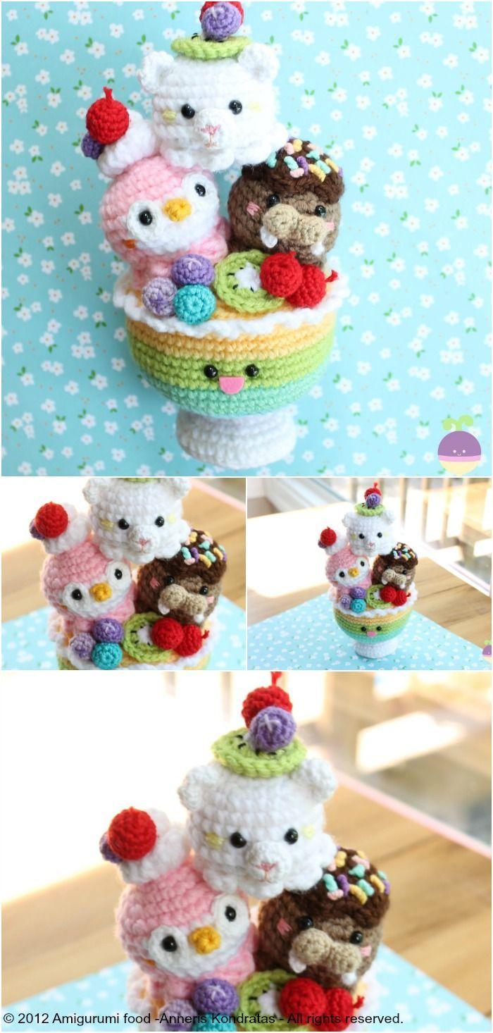 Sundae Morning new Crochet pattern!! Ice cream cup!! (Amigurumi Food)