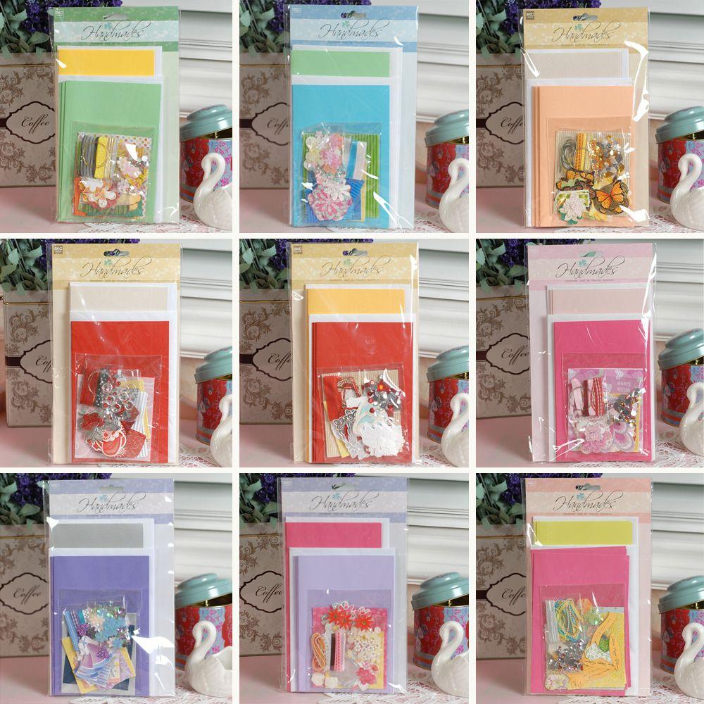 Aliexpress Com Buy 6 Cards And Envelopes Handmade Card Kit Diy Creative Gift Card Making Kit For Kids Handmade Card Kits Card Making Kits Creative Diy Gifts