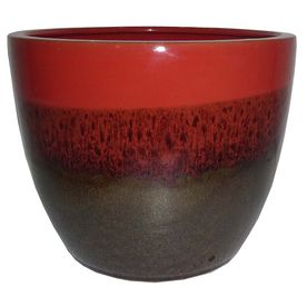 Great Garden Treasures 8.07 In X 7.28 In Brown Red Ceramic Planter